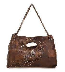 Brown Leather Satchel Handbag