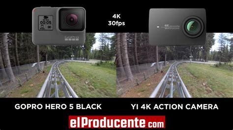 yi action camera gopro hero black fps youtube