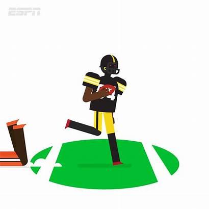 Steelers Browns Espn Football Cartoon Gifs Animation