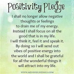 Positivity Pledge... the power of positive thinking ...