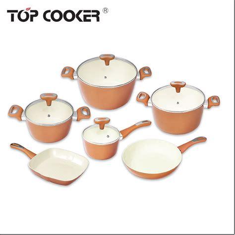 pcs aluminum ceramic coated cookware set buy  stick cookware setsaluminum cookware set