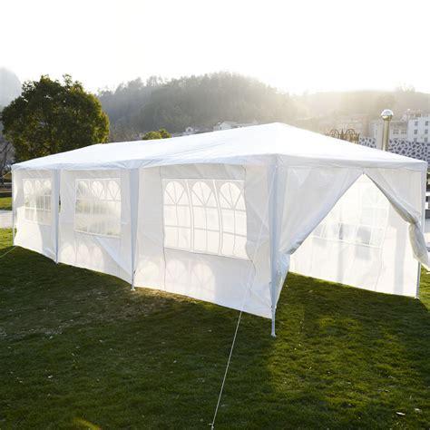 marque canap 10 x 30 white tent gazebo canopy