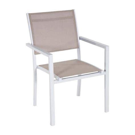 chaise tati fauteuil de jardin taupe montezalo l 59 x p 60 x h 90 cm