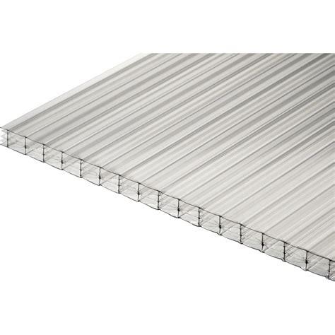 plaque polycarbonate alv 233 olaire 16mm clair 4 x 0 98m dhaze leroy merlin