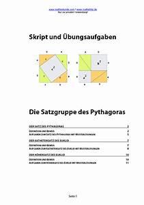 Satz Des Pythagoras Kathete Berechnen : satz des pythagoras aufgaben und herleitung pythagoras ~ Themetempest.com Abrechnung