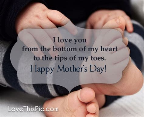 I Love You From The Bottom Of My Heart Happy Mothers Day