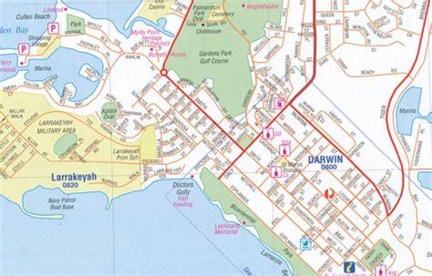 darwin  region handy map hema maps books travel