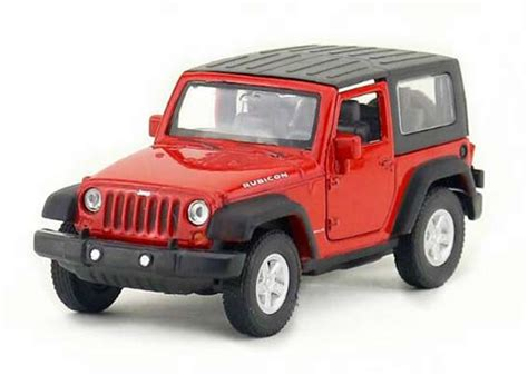 kids red jeep kids welly red 1 36 scale diecast jeep wrangler rubicon