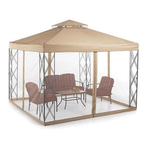 Searsca Patio Swing by Sears Whole Home 10 X 10 Cabin Style Gazebo Garden Winds