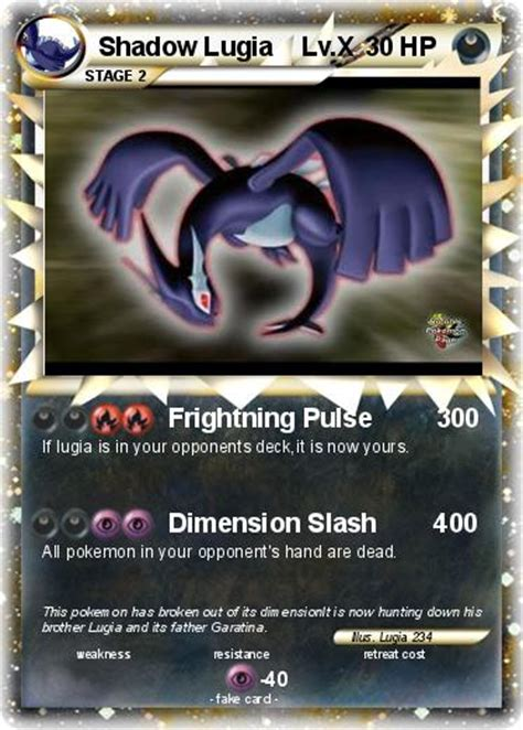 Buy and sell shadow lugia (pr ) singles in europe's largest online marketplace for pokémon. Pokémon Shadow Lugia Lv X 46 46 - Frightning Pulse 300 - My Pokemon Card