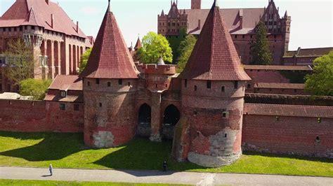 poland  beautiful amber city gdansk malbork castle drone video dji mavic pro youtube