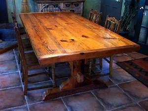 Wood Dining Table Set Antique Trestle Table Farmhouse
