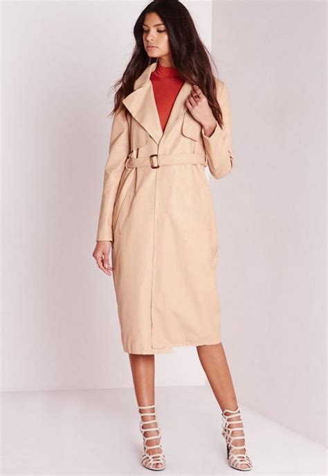 Mature naked trench coat
