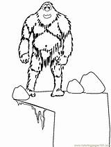 Coloring Pages Winter Yeti Abominable Snowman Printable Colouring Dessin Rocket Ship Rudolph Monster Fantasy Snow Print Et Drawing Cie Cliparts sketch template