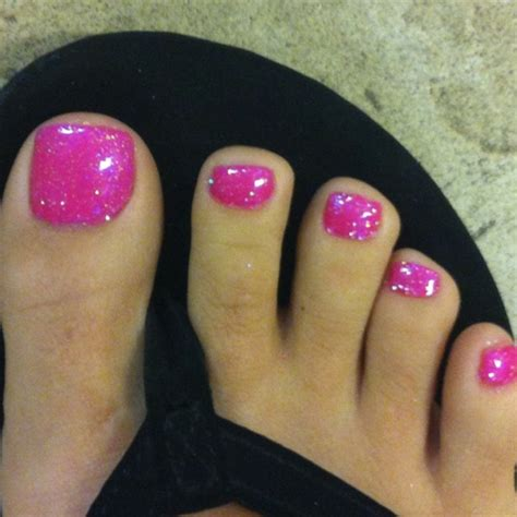 summer toe colors my toes done with shellac tutie fruitie and glitter