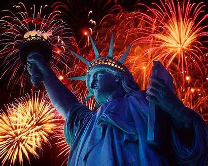 July 4th Fireworks Wallpapers Liberty Statue Statues