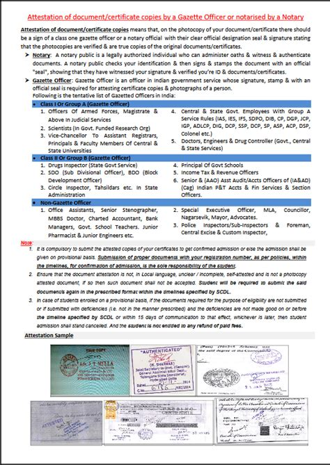 documents attested    gazetted
