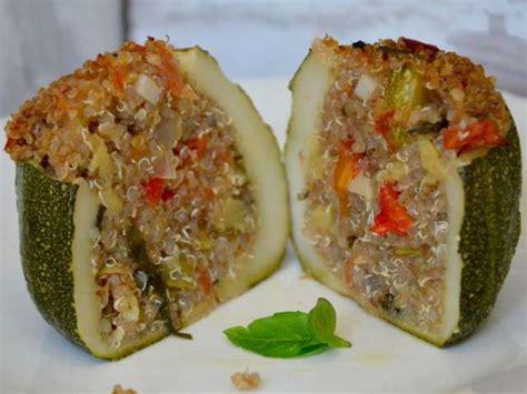 cuisine quinoa recettes de courgettes farcies et quinoa