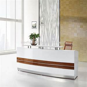 modern office reception desk design curved office counter ...