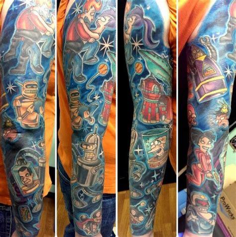 futurama tattoo designs  men animation ink ideas