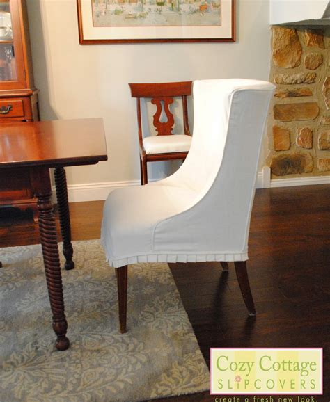 cozy cottage slipcovers white slipcovers   dining room