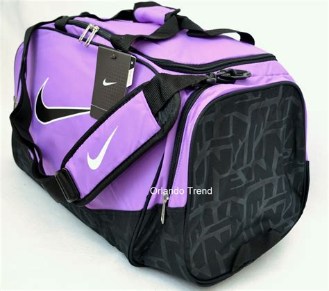nike duffel bag brasilia 5 purple black medium bag