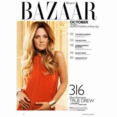 Drew Barrymore Bazaar Harper Polyvore Nude