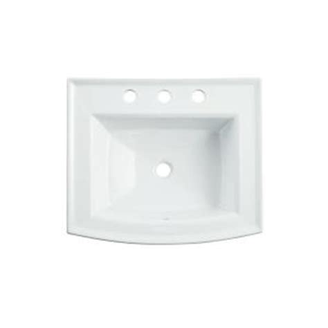 Home Depot Sinks Drop In by Kohler Archer Drop In Vitreous China Bathroom Sink In
