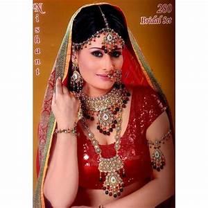 acheter bijoux indien parure ensemble pour mariee 8 pieces With robe de mariée rouge avec bijoux indiens