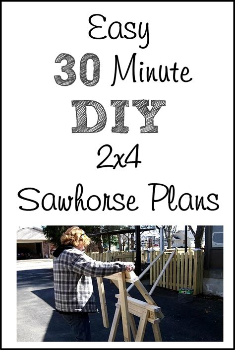easy  sawhorse plans  repurposed life
