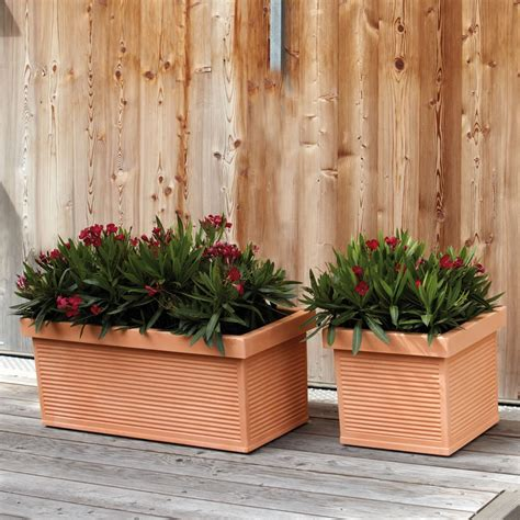 vasi giardino terracotta vaso cassetta finta terracotta cotto argilla millerighe