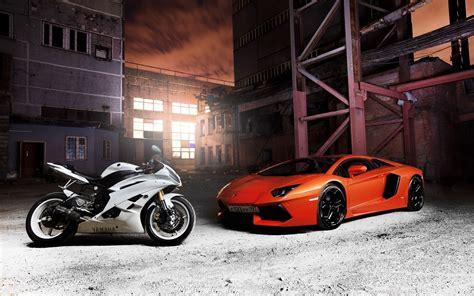 Papéis De Parede Lamborghini Aventador Laranja Supercarro