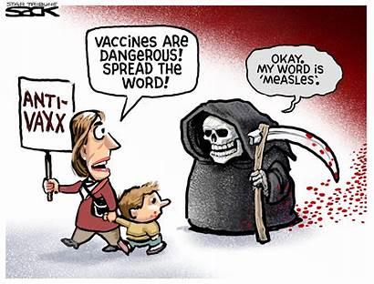 Anti Vaxxers Cartoon Editorial February Cartoons Political