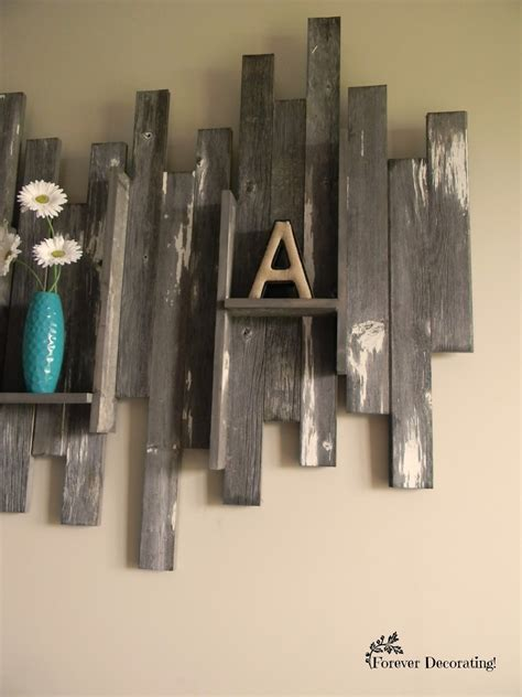 At 5 feet long this piece will be the statement maker where ever you decide to put it! Forever Decorating!: Barn Wood Wall Art & Basement