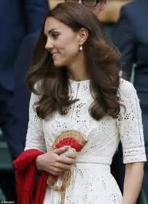 Kate Duchess Cambridge Arrives Wimbledon Wearing