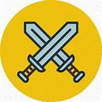 Icon Attack Battle Military Swords Icons Svg