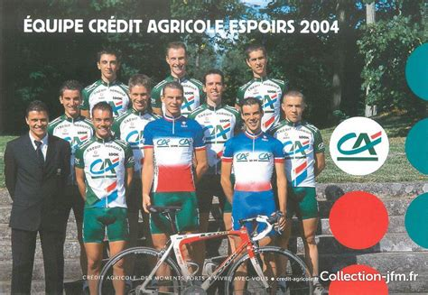"""Espérance refers more to a state of mind, more like optimism. CPSM CYCLISME """"Equipe Crédit Agricole Espoirs 2004"""" 
