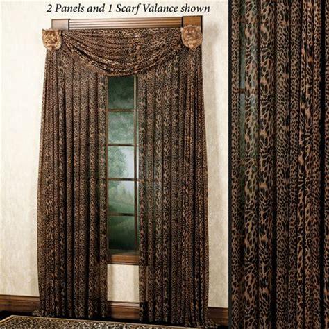 leopard print curtains drapes leopard stripe tailored window panel