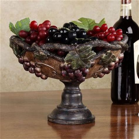 grape harvest decorative centerpiece bowl bowls