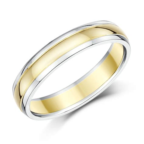 his hers 4 6mm 9ct two colour wedding ring bands 9ct 2 colour gold at elma uk jewellery