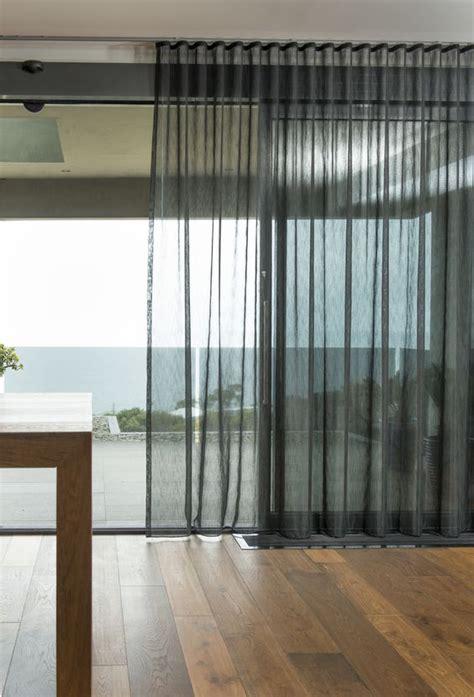 cortina ondulada  gasa cortinas negras