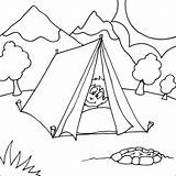 Coloring Camping Pages Tent Printable Colouring Boy Sheets Nature Scene Fire Fun Peaking Snoopy Camper Boys Pit Head Camp Disney sketch template