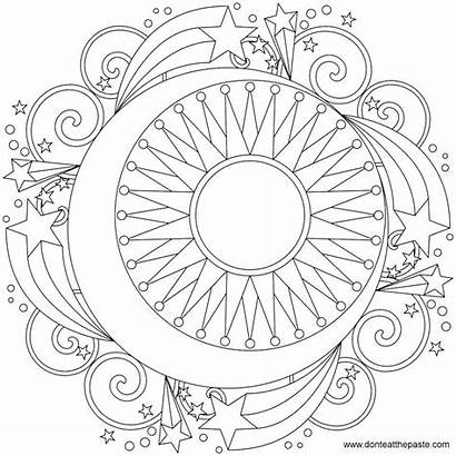 Moon Coloring Phases Pages Printable Phase March