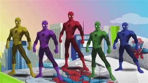 Five Little Spiderman Jumping On The Bed