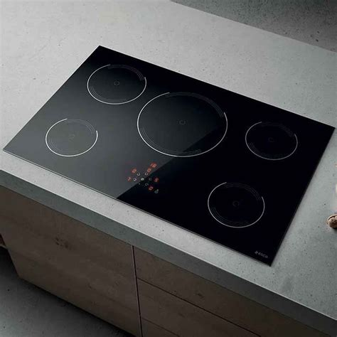 kitchen extractor hoods elica lien golden 805 induction hob black appliance source