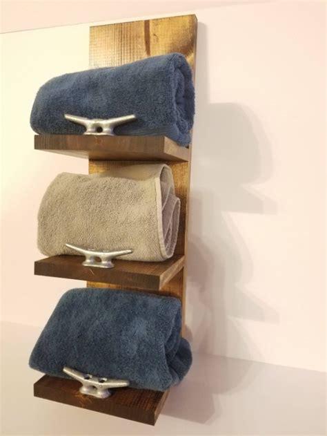 rustic nautical  shelf towel rack bathroom decor aftcra