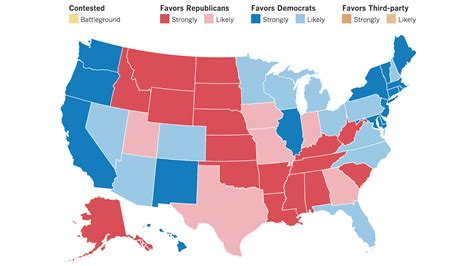 weve updated  electoral map  states move