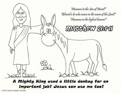 Palm Sunday Coloring Printable Bible Pages Verse