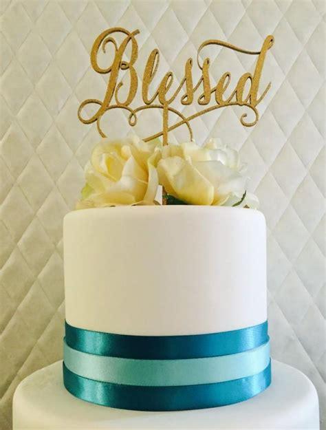 blessed cake topper wedding cake topper bridal shower