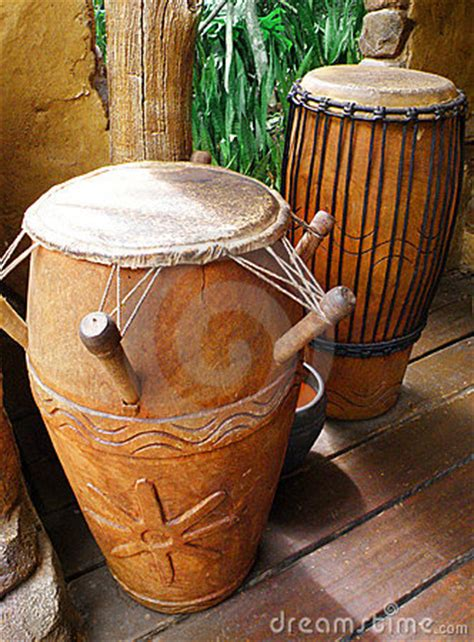 african tribal drums royalty  stock image image